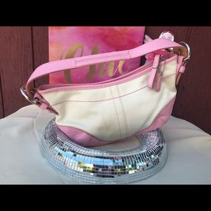 NWOT Pretty Pink leather mini shoulder bag Coach